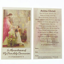 Cattolica In commemorazione of my Prima Comunione preghiera carta bambini e