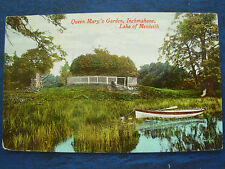 VINTAGE POSTCARD QUEEN MARY'S GARDEN - INCHMAHONE - LAKE OF MENTEITH