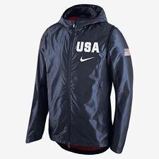 NIKE TEAM USA OLYMPIC MEN'S HOODED HYPER ELITE BASKETBALL JACKET NAVY sz M