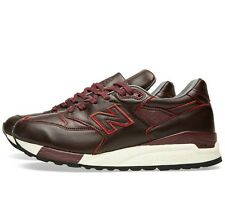 New balance 998 Burgundy Leather Mens Shoes Size 7.5D USA Horween M998WD $400!