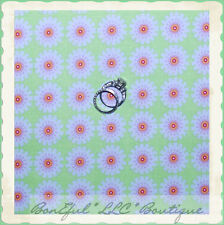 BonEful FABRIC FQ Cotton Quilt Green Pink White Dot Flower Baby Girl Doll Dress