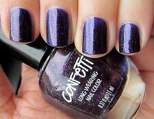 Glittery Purple Nail Polish Confetti Long Wearing - Happy Birthday