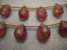 Pink Tourmaline Rubellite Faceted Briolette Beads 17pcs