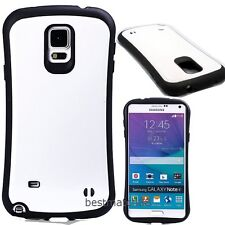 for samsung galaxy note 4 case cover hybrid rugged shockproof black white