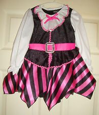 HALLOW'S/EVE~girls~HALLOWEEN/PINK/BLACK/PIRATE/COSTUME! (24/MO) BRAND/NEW! NICE!