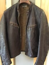 """PRICE DROP!!!"" VINTAGE LEATHER BIKER JACKET Old School 60's Biker Leather Cafe"