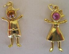 Boy or Girl Charm 'YOU PICK BIRTHSTONE COLOR' *Cute and Adorable* Gold Jewelry
