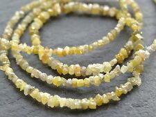 "12ctw YELLOW DIAMOND NUGGETS, graduated 2mm - 3mm, 15.5"", 290 beads"
