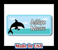 42 Custom Personalized Waterproof Name Labels Stickers Tag Kids Children Bottle