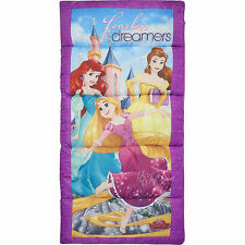NEW Disney Princess Kids Full Length Zip Youth Rolls Up Sleeping Bag MADE in USA