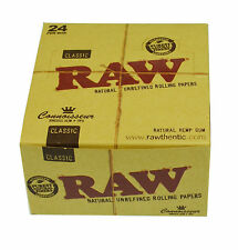 24 x Raw Classic King Size Slim Rolling Paper With Tips Raw Paper With Roach Tip