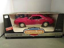 ERTL 1:18 AMERICAN MUSCLE PINK 1970 PLYMOUTH HEMI CUDA NEW *READ*
