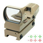 Tactical Holographic Reflex Red Green Adjustable Dot Sight  w/ Rail Mount - Tan