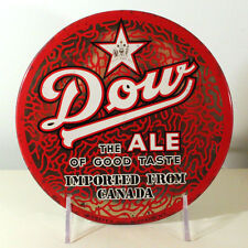 """DOW ALE 9"""" ROUND TOC BUTTON BEER SIGN MONTREAL QUEBEC CANADA OKEEFE'S BUFFALO NY"""