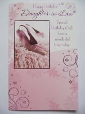 STUNNING COLOURFUL DANCING SHOES DAUGHTER-IN-LAW BIRTHDAY GREETING CARD
