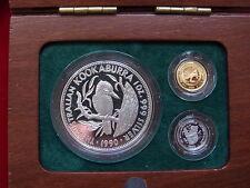 1990 Family of Precious Metals Set. 1/20 oz Gold, 1/20 oz Platinum, 1 oz Silver