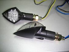 2X LED GHOST BLACK INDICATORS FOR SACHS,CAGIVA,MV AGUSTA,GILERA,APRILIA,YAMAHA