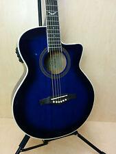 EKO NXT 018 CW EQ BLS Cutaway Jumbo Electro-Acoustic Guitar, Blue Sunburst