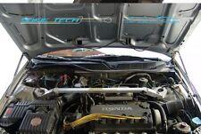 97-01 Honda Prelude BB5-BB9 Black Strut Bonnet Hood Gas Lift Stainless Damper