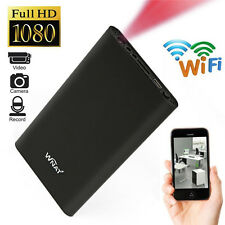 Mini WIFI 1080P HD Spy Hidden IP Camera Power Bank Wireless Video Recorder Cam