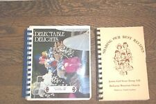 LOT OF 2 GIRL SCOUNT COOKBOOKS-N.C. & SWITZERLAND, SPIRALS, GOOD COND.