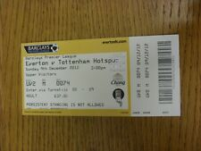 09/12/2012 Ticket: Everton v Tottenham Hotspur  . Thanks for viewing this item,
