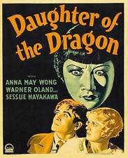 DAUGHTER OF THE DRAGON Movie POSTER 27x40 B Anna May Wong Warner Oland Sessue