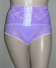 J NEW Lilac Tummy Tamer Panty Girdle Brief Lace Front Hook Waist Cincher 40W 5XL