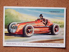 R&L Postcard: Maserati Formula 1, T E North, Valentine's Racing Car Series 5003