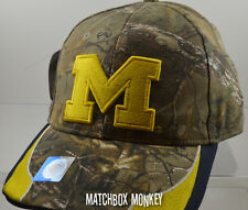 U of M University of Michigan Wolverines Baseball Hat Ball Cap Realtree Camo NWT