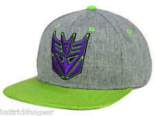 BIOWORLD TRANSFORMERS DECEPTICON SHINY GREEN FLAT VISOR SNAP BACK HAT/CAP - OSFM