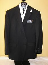 $660 New Jos A Bank Traveler Solid Navy Blue 2 button jacket 44 S Portly