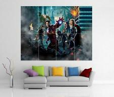 THE AVENGERS ASSEMBLE MARVEL IRON MAN HULK THOR GIANT WALL ART PRINT POSTER H90