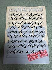THE SHADOWS 1980 European Tour Programme!