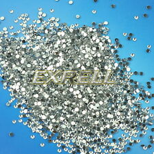 Fashion 20000pcs Clear Rhinestone Crystal Glitter Nail Art Decoration 2mm ex1l
