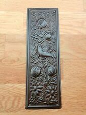 BRONZE FINISH ARTS & CRAFTS FINGER DOOR PUSH PLATE FINGERPLATE
