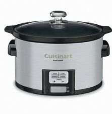 NEW Programmable Slow Cooker 3-1/2-Quart Cuisinart Stainless Crockpot Set Forget