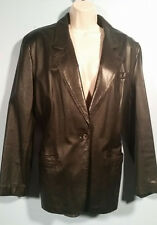 Lord & Taylor Nappa Leather Jacket Womens Sz 14 Lined/Soft/Supple Winter!! EXC+