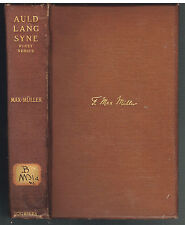 Auld Lang Syne by Professor F. Max Muller 1901 Rare Antique Book!    $
