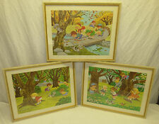 Retro 60s Set 3 Craig Pineo Framed Kuntz Prints Children Playing Kids Room Decor