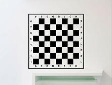 Chessboard Wall Decal Checkerboard Chess Vinyl Sticker Art Decor Mural (129ex)