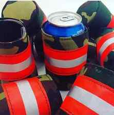 Camo Firefighter Bunker Gear Style Beer COOLER COOZIE COOLIE KOOZIE