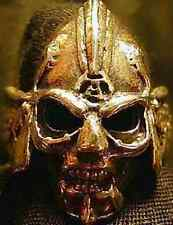 LOOK Skeleton Skull Armor Warrior Ring Gothic Gold Plated