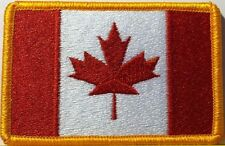 CANADIAN FLAG EMBROIDERED IRON-ON PATCH CANADA ARMY EMBLEM MAPLE LEAF RED