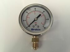 Hydraulic Pressure Gauge 63mm Bottom Entry 0-60 PSI 4 Bar Stainless GB6304/04