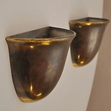 Paar art deco Messing Wandlampen  Deckenfluter