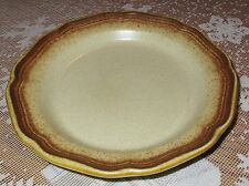 "MIKASA Whole Wheat Bread Salad Desert Plate 8"" Diam Brown E 8000 Japan MINT"