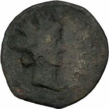 CARTEIA SPAIN After44BC Authentic Ancient Roman Coin Greek Colony Neptune i46316
