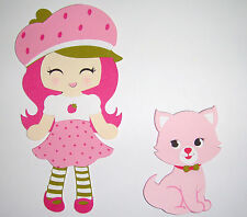 Strawberry Shortcake and Kitty Paper Die Cut Paper Doll Scrapbook Embellishment