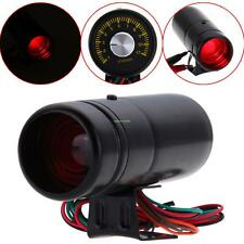 Black 1000-11000 RPM Universal Adjustable Tachometer Tacho Gauge LED Shift Light
